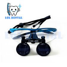 LOL DENTAL 2.5x , 3.5x Dental Surgical Binocular Loupes+LED Head Light lamp