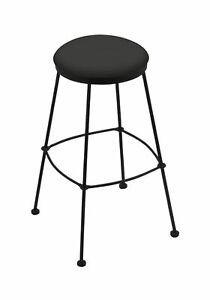 "Holland Bar Stool Co. 3030 25"" Stationary Counter Stool with Black Wrinkle Fi..."