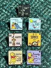 Disney Pin Hidden Mickey Tigger Eeyore Piglet Winnie The Pooh Quotes Pin Set/Lot