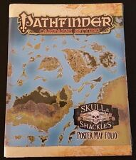 Pathfinder Campaign Setting SKULL & SHACKLES POSTER MAP FOLIO Paizo D&D 3.5 NEW!