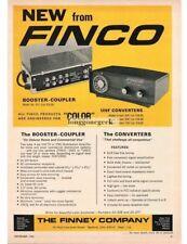 1965 Finco Booster Coupler& UHF Converter Television Reception Vtg Print Ad