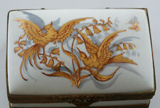 Le Tallec Box Gold Birds France Porcelain Hand Painted French Limoges