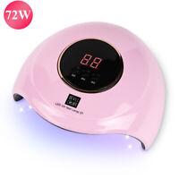 72W UV Led Nail Lamp Gel Nail Polish Dryer Timer Light 12 Leds Professional Tool