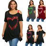 PLUS XL-5XL Women Casual Plus Size Pullover Loose T Shirt Tee Tunic Top Blouse