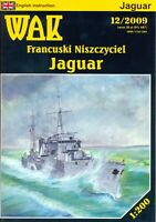 "GENUINE PAPER-CARD MODEL KIT - ""JAGUAR"" French Destroyer"