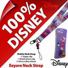 New Disney Eeyore Lanyard/Neck Strap (Winnie The Pooh) Mobile Phone KEY ID Badge