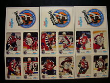 1992-93  KRAFT SINGLES HOCKEY (3) PANELCOMPLETE  SET 12/12 CARDS GRETZKY,ROY