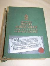 Allemand Carnet d'adresses pour INDUSTRIE commercial et Handel IV 1939 VOIR