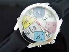 New Swiss made Jacob & co 5 time zone JC 47mm Multi color face watch Black band