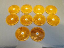 JOB LOT OF  X 10 AMBER ROUND REFLECTOR 6 CM WITH 6 MM BOLT HOLE