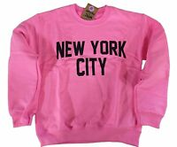 New York City Sweatshirt Screenprinted Pink Adult NYC Lennon Shirt