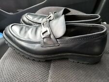 648ae499f86 Gucci Horsebit Black Leather Loafers Size  M 7 1 2