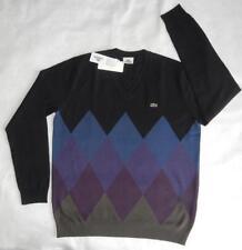 Lacoste Wool V Neck Regular Jumpers & Cardigans for Men
