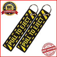 Embroidery Pull To Eject Bag Tag Key Ring Holder Portable Label For Travelling