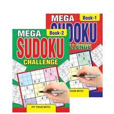 2 X A5 Mega Sudoku Puzzle Book Books 500 Puzzles Pages Super Trivia