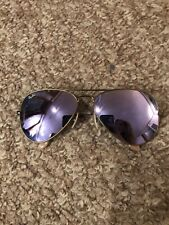 Ray Ban RB3026 62MM Aviator Unisex Sunglasses Gold Frame/Purple Flash Lens