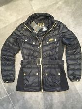 Barbour International Gleann Down Quilted Jacket Coat Size 8 BNWT RRP £199 EU 36