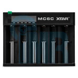 XTAR MC6C 6 Channel LCD Smart Li-ion Battery Charger