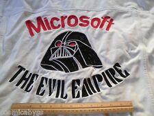 Apple Steve Wozniak Darth Vader 1983 vtg jean jacket Microsoft Evil Empire 4XLT