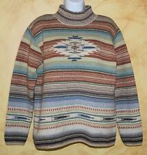 VTG RALPH LAUREN Hand-Knit INDIAN Southwest Art-to-Wear Wool Knit Sweater P/P PS