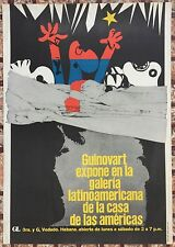 Jose Guinovart Espana Expo GL Casa Las Americas Cartel Poster Habana Cuba 72
