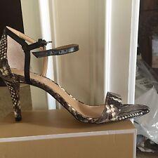 Michael Kors Simone Dress Sandals-Snake/Black US-  9M