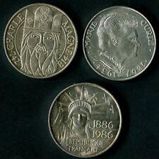 FRANCE BELLES MONNAIES 100 FRANCS  ANNEES 1984/86/90  ARGENT  SILVER COIN
