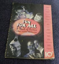 Antique Fun For All A Book Of Parties Magazine By Dennison Manufacturing  1935