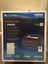 Brother HL-L2340DW Compact Laser Printer, Monochrome, Wireless Connectivity