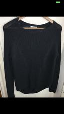Ladies H&M  Grey/Black Chunky Knit Hi Low Hem Jumper Small