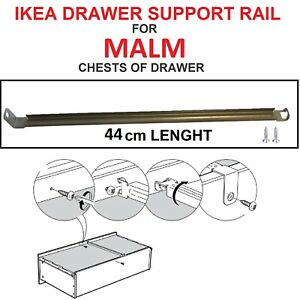 IKEA drawer support rail 44cm Long for MALM series chest of drawer