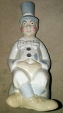 Castille Porcelain Clown Figurine Made in Spain Blue Beige Circus Collectible