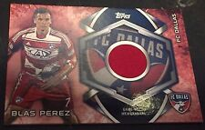 BLAS PEREZ 2014 Topps Soccer MLS Kits RELIC Game Worn  SP Card FC DALLAS