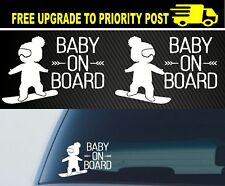 Baby On Board Wonderlust SNOWBOARD Car SUV Vinyl Decals Stickers Funny Boy Girl