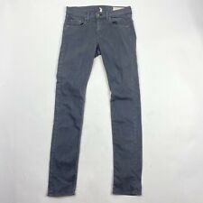 Rag & Bone Jeans Size 25 Womens Gray The Dre Skinny Jeans Aged Charcoal Stretch