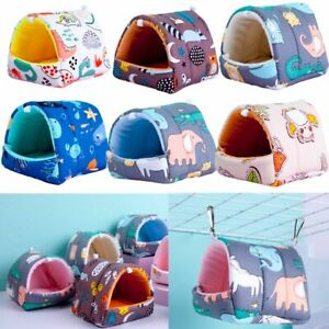 Mini Cage Warm Mat Hamster House Small Animal Sleeping Bed Guinea Pig Nest