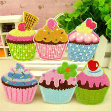 6 Embroidery Ice Cream Cake Sew Iron On Patch Badge Embroidered Fabric Applique