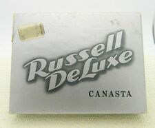VTG 1951 Russell Deluxe Canasta Green Griffin Playing Cards Dual Decks & Case