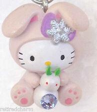 ❤️Sanrio Hello Kitty Rabbit Baby GOTOCHI Netsuke Mascot Charm Phone Strap Japn❤️