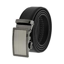 Comfort Slide Click Leather Automatic Belt Men's Buckle Lock Dress Jeans New