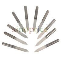 "10pcs 0.051/"" 1.3mm Carbide End Mill Engraving Bits CNC PCB Machinery 1//8/"" shank"