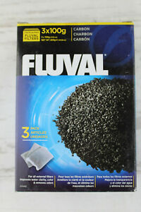 Fluval Carbon Filter Media for Aquariums 3 100g Pouches Sealed Box