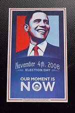 2008 OBAMA for President POSTCARD w facsimile AUTOGRAPH signature & GOTV message