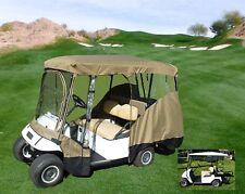 """4 Passenger Golf Cart Driving Enclosure Cover   EZGO Club Car (Long Roof, 80""""L)"""