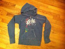 girls size 14 Coca Cola zipper front hoodie/hooded sweatshirt Coke Colorful cute