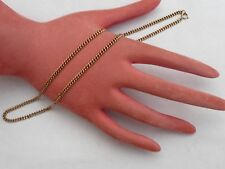 SUPER VINTAGE SOLID 9CT GOLD 18 INCHES HEAVY CURB LINK CHAIN NECKLACE 10.8 GRAMS