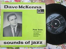 Dave McKenna I SUONI DEL JAZZ FONTANA TFE17169 4 Track EP UK 7 in (ca. 17.78 cm) VINYL SINGLE