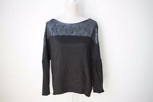 Ginger and Smart: Black Long Sleeve Top, Size 6