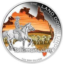 Australia 2014 Land Down Under 3 Stockman Cowboy Horseback $1 Pure Silver Proof