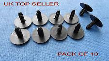 10 Piezas Grandes De Pared Negro Panel guarnecido de abeto tree/spruce botón Clips